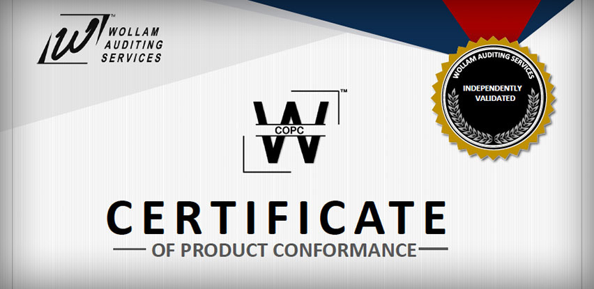 Certificate of Product Conformance